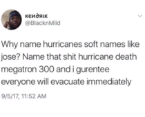 Hurricane death megatron