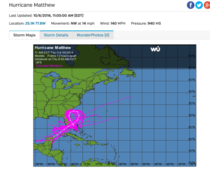 Hurricane Matthew is taking the Breast Cancer Awareness Month thing seriously