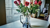 Husband brought me flowers We got married at the courthouse and a blender was the only wedding gift we got