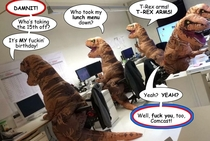 I added word balloons to the office-rexes