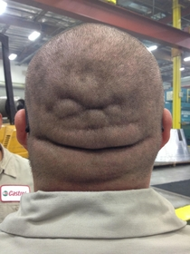I always thought my coworker was two faced He just shaved his head and proved me right