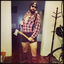 I am a sexy lumberjack for Halloween this year