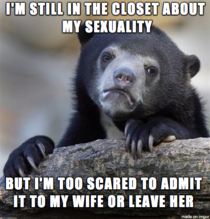 I am just closet about my sexuality