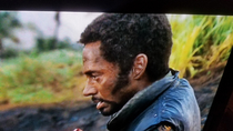 I am watching Tropic Thunder and my  year old walks by sees this and asks why does Iron Man look like Black Panther