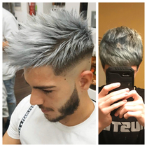 I asked for a bottom silver to top white fade No kiddinghonestly dont know how she messed it up this bad