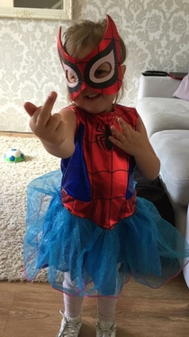 I asked my daughter how Spider-Man shoots his web