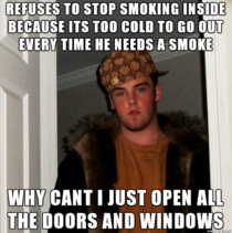 I asked my new roommate to stop smoking in the house because I have asthma