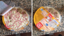 I bought a pizza with mushroomsThey do it on purpose
