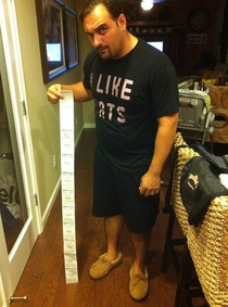 I bought one thing at CVS This is the receipt