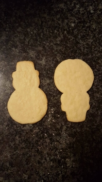 I brought in snowman cookies to work A co-worker thought they were South Park cookies