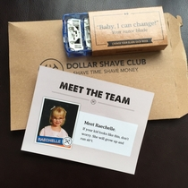 I buy razors from the Dollar Shave Club meet Raechelle