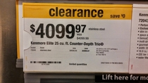 I can finally afford the fridge I want now that its on clearance