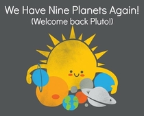 I can see Pluto getting all excited packing his luggage getting his planet uniform back on about to head out the door and then catching a glimpse at the calendar