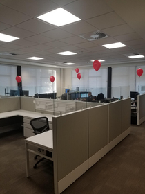 I decorated the IT department at work