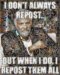i dont always repost