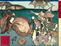 I dont really know what to post on my cakeday so here is an old japanese painting depicting humans fighting off a racoon dog with giant testicles