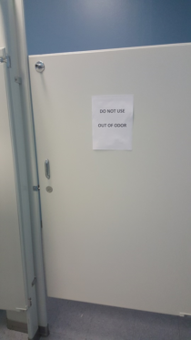 I dont think the custodians at my work understand what the problem with the toilet is