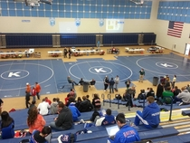 I dont think the school that hosted this wrestling tournament realized