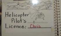 I doubt the legitimacy of my brothers helicopter pilots license
