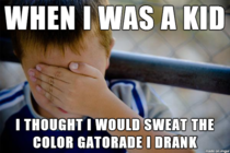 I drank so much blue Gatorade because of those commercials