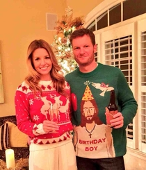 I feel like we can all appreciate Dale Jrs Christmas sweater