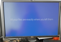 I feel like Windows mistakenly did something horrible to my files and then managed to fix them while in a panic