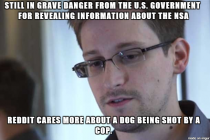 I feel terrible for Snowden because he risked everything to reveal NSAs dirty laundry and this is what happens