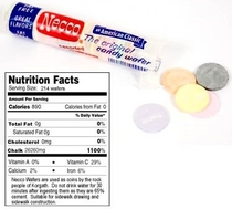 I finally read the nutrition facts on a pack of NECCO wafers