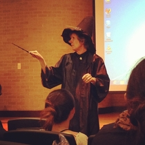 I go to Texas AampM University and my information systems professor showed up today as Professor McGonagall