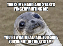 I got fingerprinted this morning as part of a background check for my citizenship application