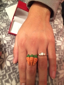I got my gf a ct ring for Christmas She was not happy