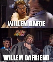 I got to hug Willem Dafoe at my graduation Now this exists