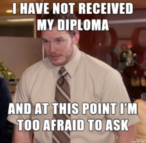 I graduated in December and already started working in my field