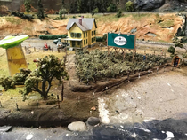 I guess aliens came to visit Tegridy Farms at some point here in Dads model train town
