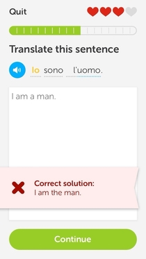I guess learning Italian means lessons in self-confidence