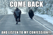 I guess some people are just tired of confession bear