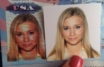 I guess the US State Department decided my passport photo needed a spray tan