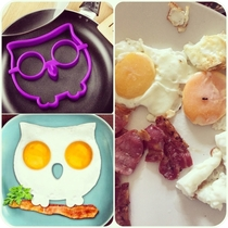 I had a crack at the owl egg today for breakfast Expectation Vs Reality