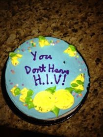 I had an HIV scare my sister got me this after it was determined a false positive