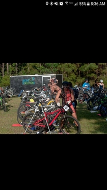I had to do a double take when scrolling through local Triathlon photos