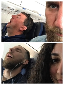 I had to sit next to an open mouth snorer on the way to San Diego My girlfriend had to sit next to me as we left Las Vegas