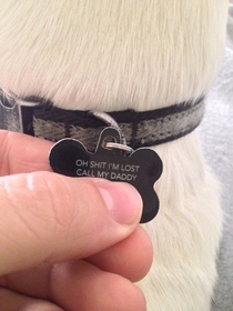 I have a similar tag for my dog