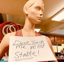 I identify as this mannequin