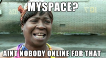 I keep seeing commercials for MySpace on TV