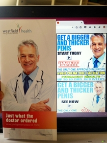 I knew I recognised the smug doctor from this medical leaflet