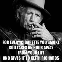 I knew Keith Richards had a secret