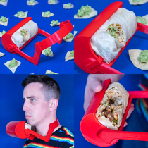 I like to design unnecessary things so I made The BurritoTrough - the laziest way you can eat a burrito