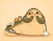 I like to think jabba had a light hearted side