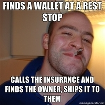 I lost my wallet on day one of a four day road trip but I was lucky enough that this GGG found it