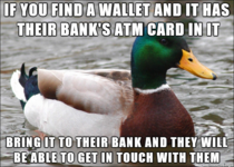 I lost my wallet the other day and with no hope of it turning up I thought Id leave you all with this tip
